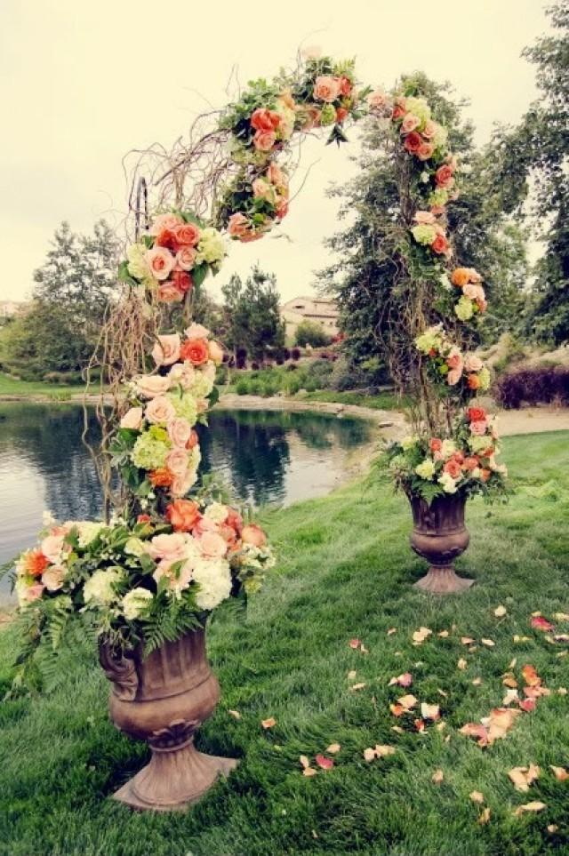 Ceremony Willow Branch Wedding Arch 2062587 Weddbook