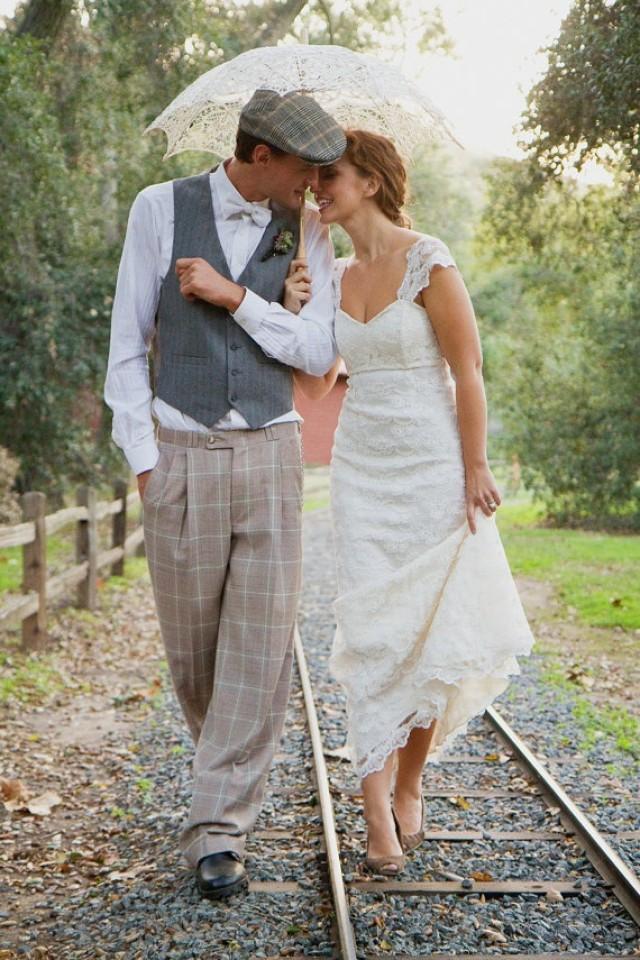 Vintage white wedding