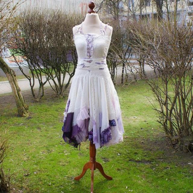 Alternative Wedding Dress Mori Girl Romantic Tattered