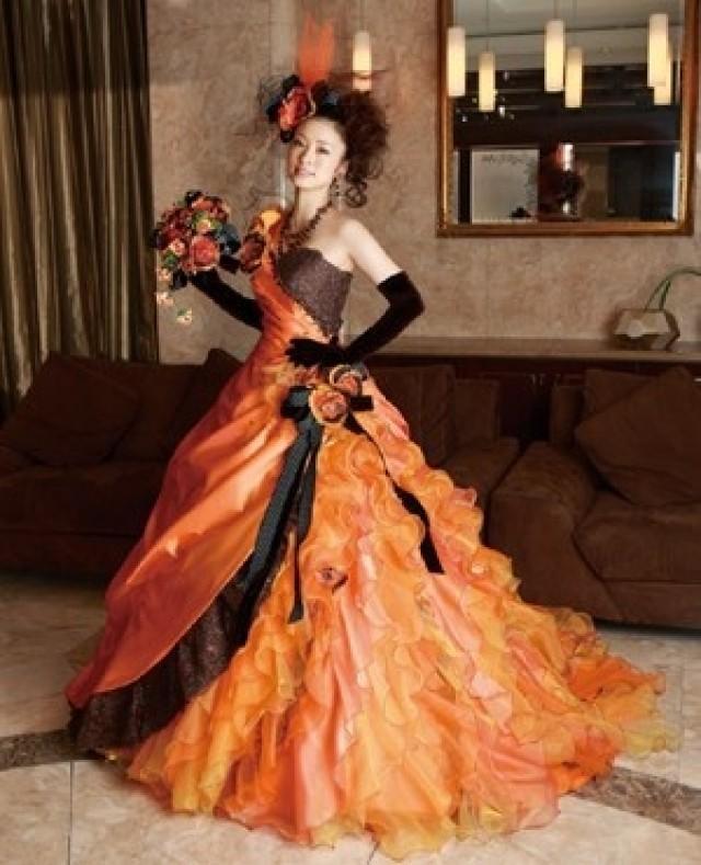 Halloween - Orange And Brown Wedding Dress #2065581 - Weddbook