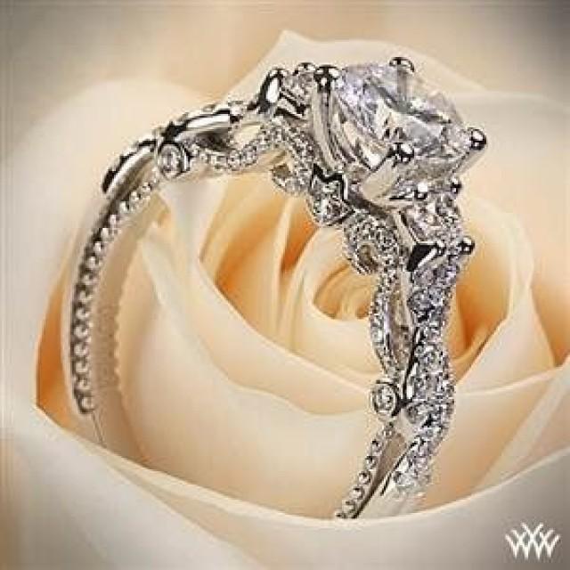 White Gold Verragio Braided Engagement Ring #2065677 - Weddbook