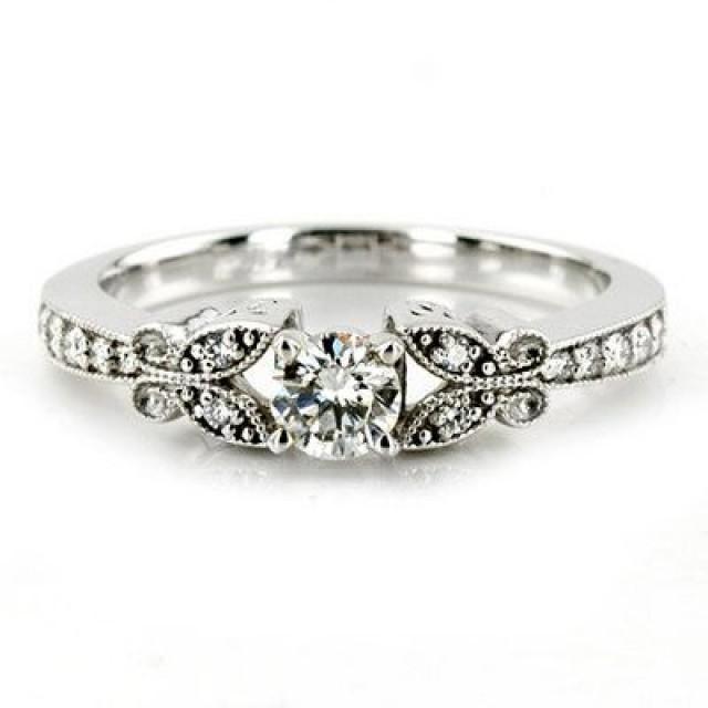 1 00ct Diamant Verlobungsring Weinlese Antike Art Einzigartige