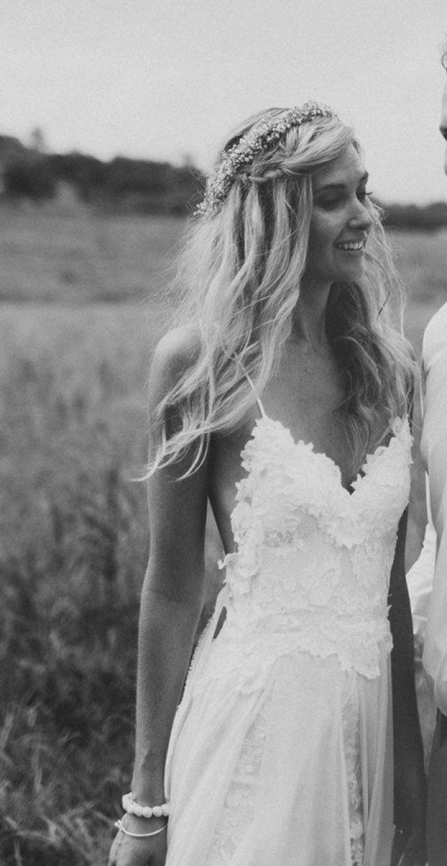 Atemberaubende Boho Low Back Hochzeitskleid, Dreamy Floaty Rock Und ...