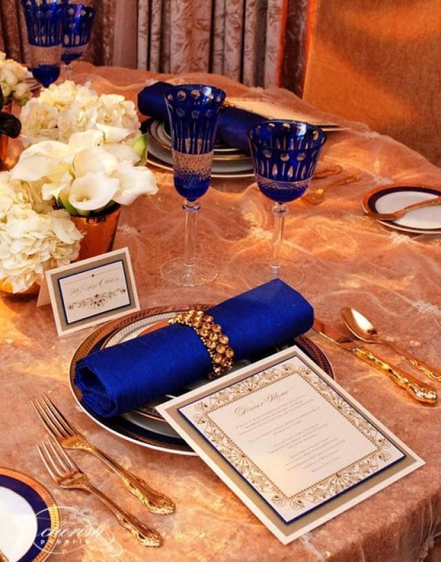Gold Wedding Royal Blue And Gold Wedding Reception 2066677 Weddbook