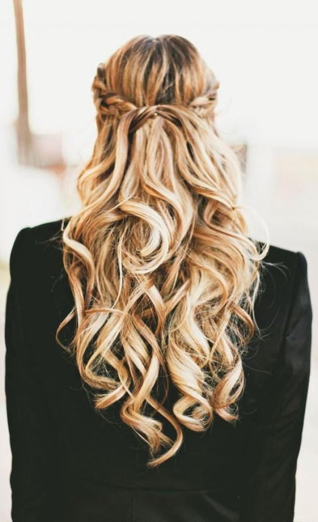 Локоны на длинные волосы без челки распущенные