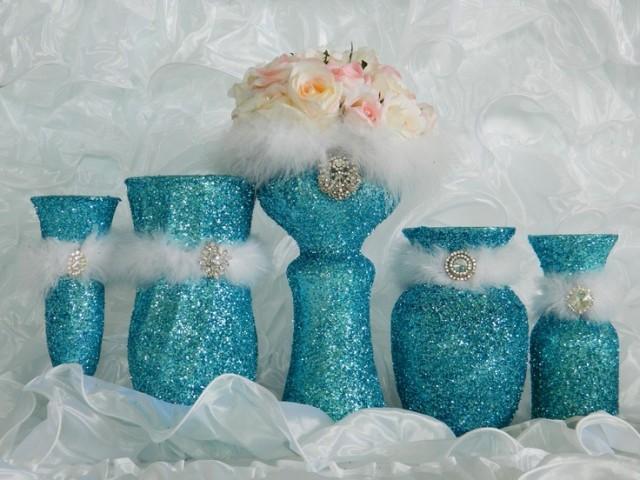 Tiffany Blue Wedding Decorations Wedding Reception Aqua