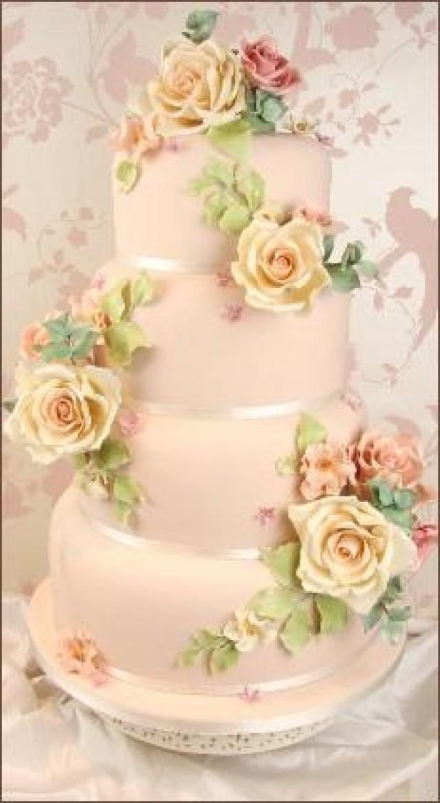 Rose Wedding - Vintage Sugar Rose Cake. #2068373 - Weddbook