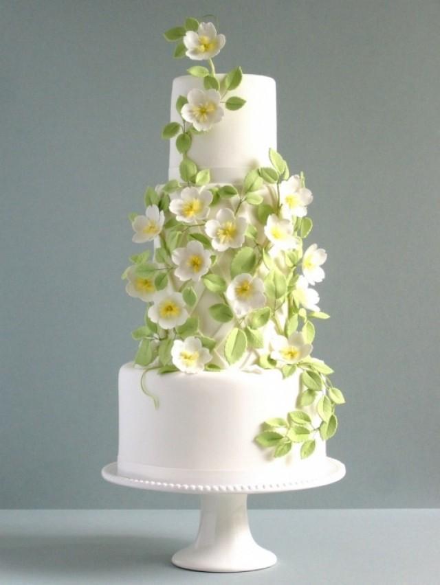 Rose Wedding - Gorgeous Rose And Trellis Wedding Cake #2069146 ...