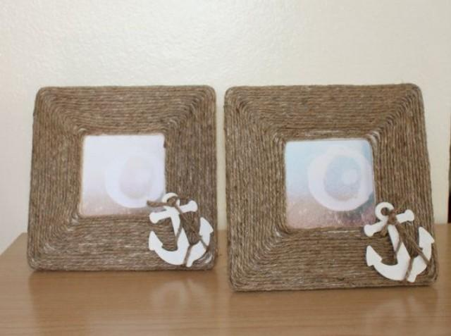 nautical wedding nautical picture frame with anchor 2070112 weddbook - Nautical Picture Frames