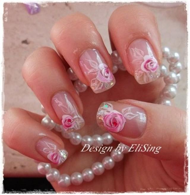 Wedding Nail Designs Bridal Wedding Nail Art 2078030 Weddbook