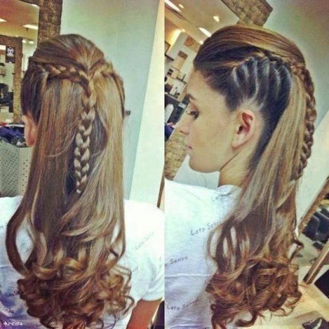 Прически с прямыми волосами с плетением