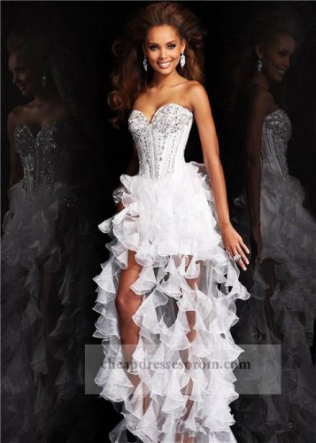 High Low Corset Prom Dresses