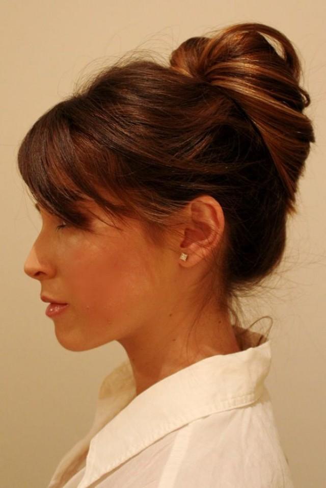 офисные прически для волос средний длинны