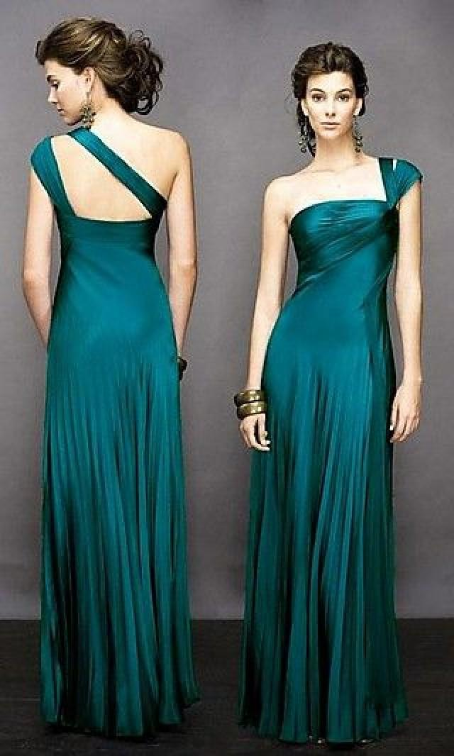 Dark emerald green bridesmaid dresses