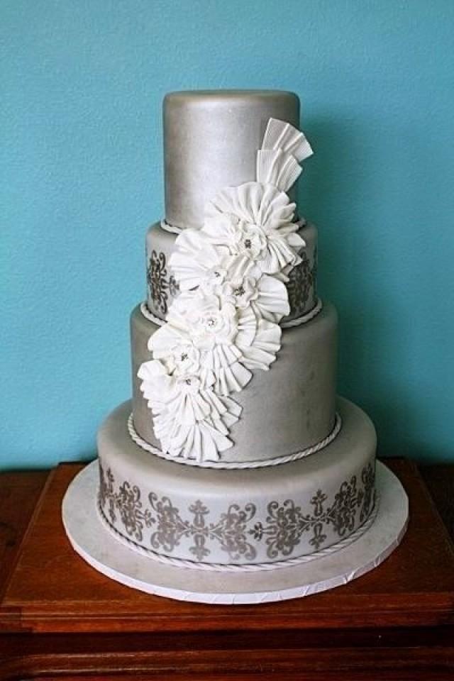 Как сделать торт серебряный 564