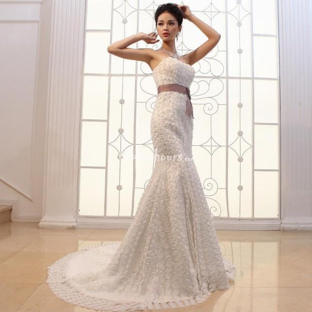 Wedding Gown Bra: Slim Significantly Thin Bra Fishtail Trailing Three