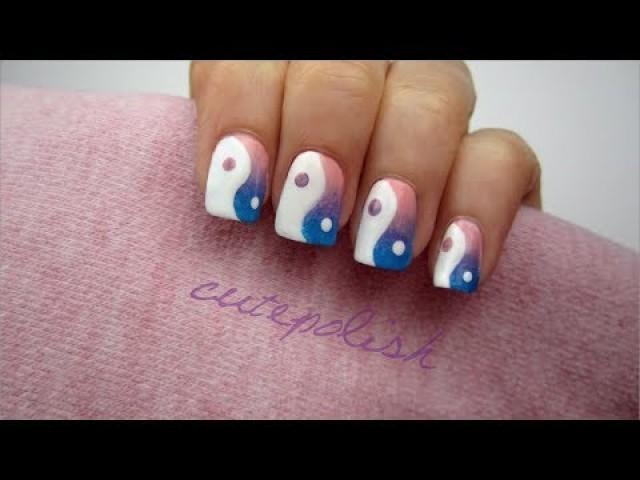Yin Yang Ombre Nails