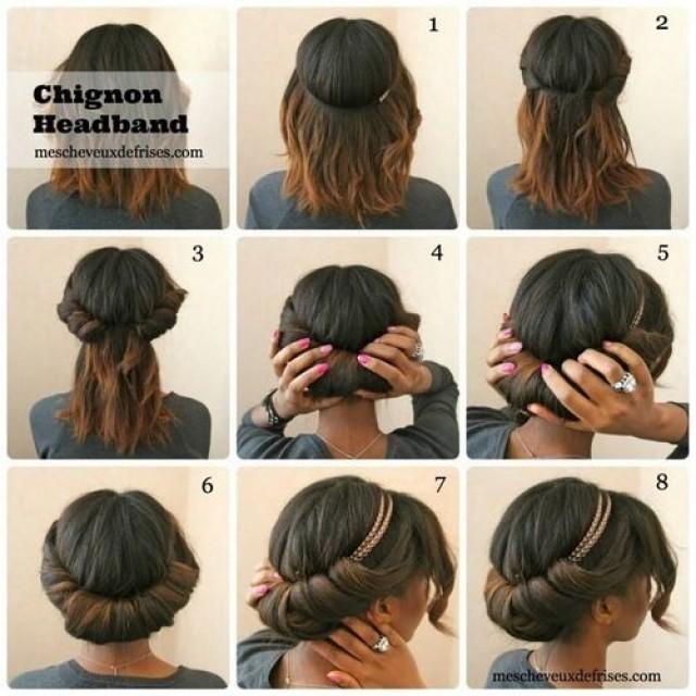 Прически на средних волосах своими руками поэтапно
