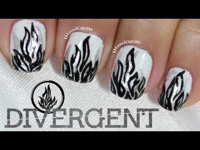 Wedding Nail Designs Dauntless Nail Art Inspired By Divergent