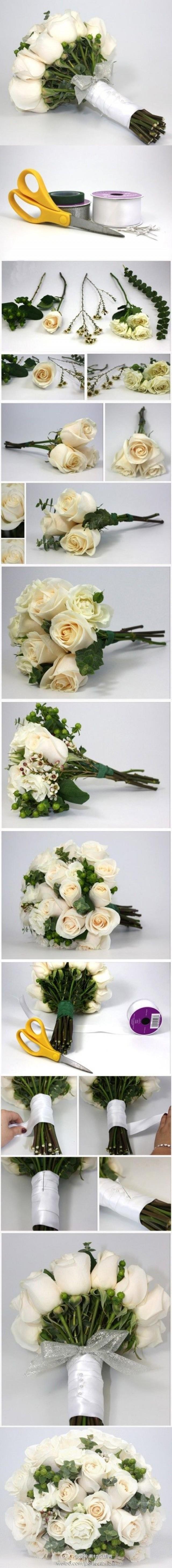 Свадебный букет из искусственных 100