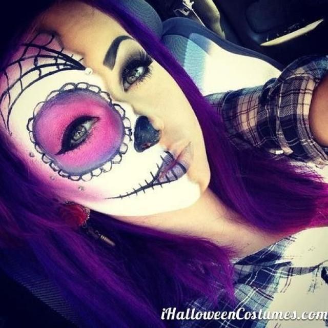 Макияж на хэллоуин для девушек фото страшные