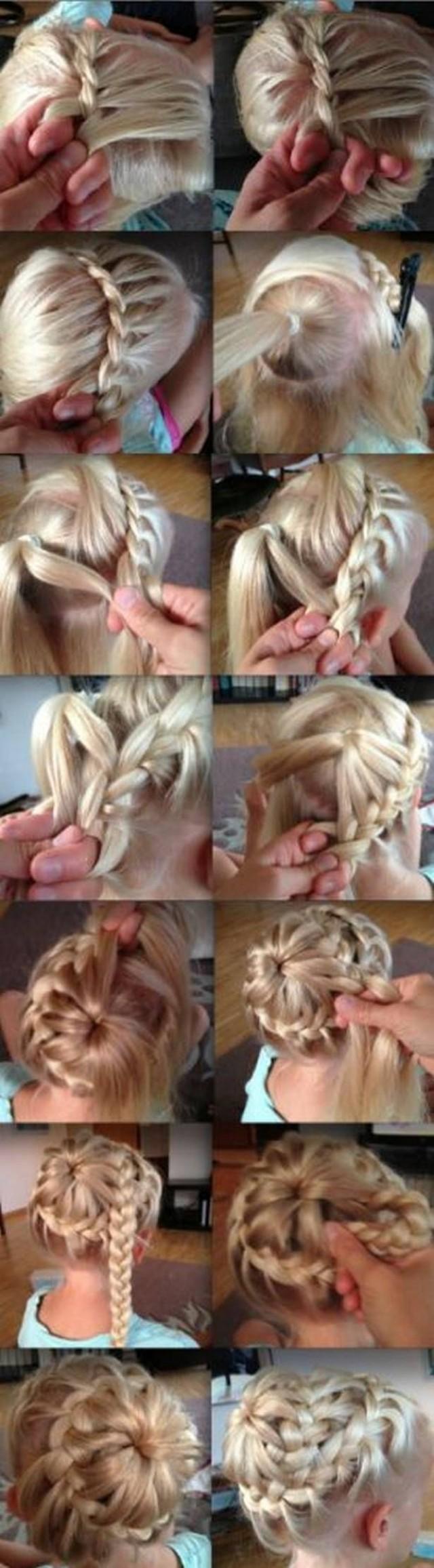 Косички для длинных волос на каждый день своими руками фото