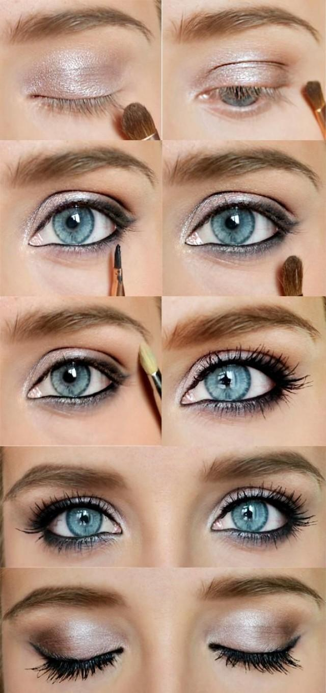 Natural eye makeup for brown eyes step by step
