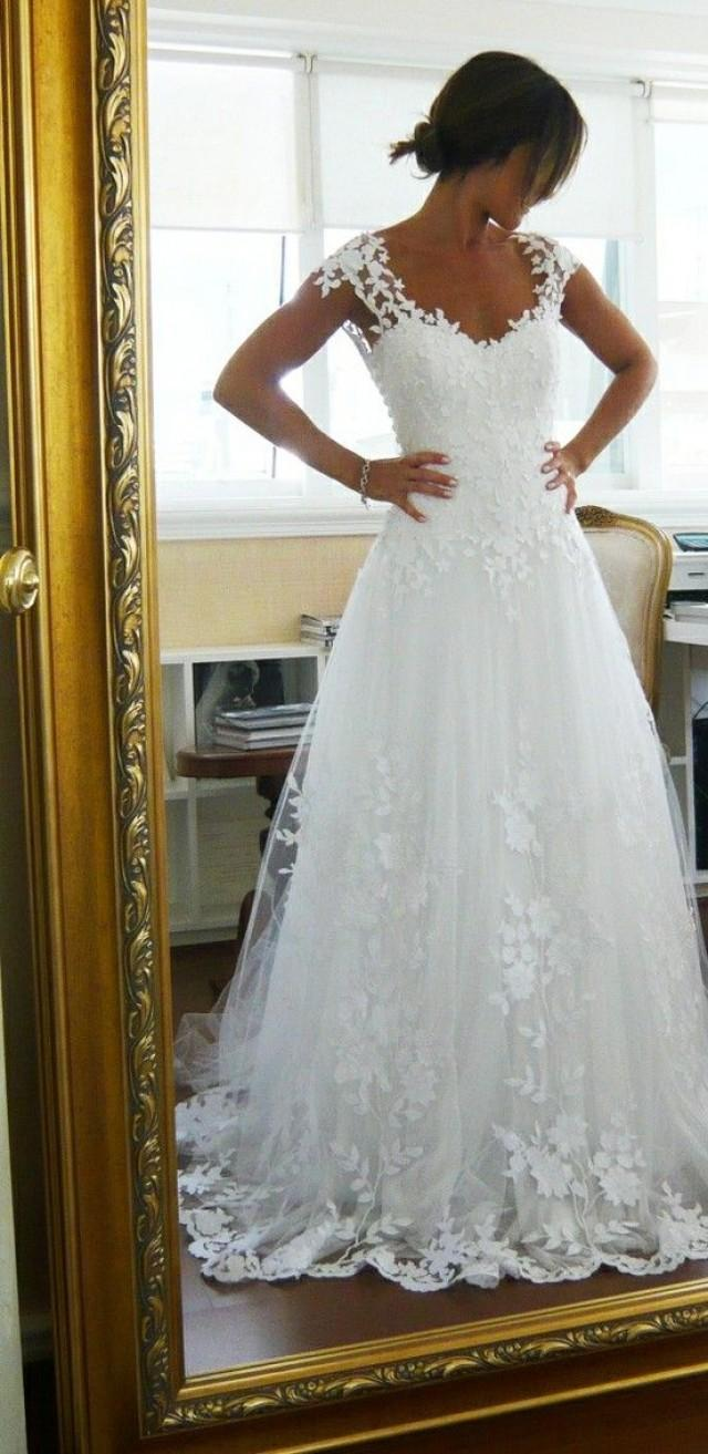 Wedding Dress Lace Wedding Dress Bridal Gown  CHRISTOS