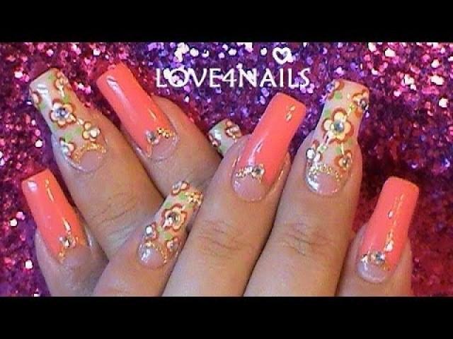 How To Paint An Elegant Summer Nail Art Design / Tutorial #2118774 ...