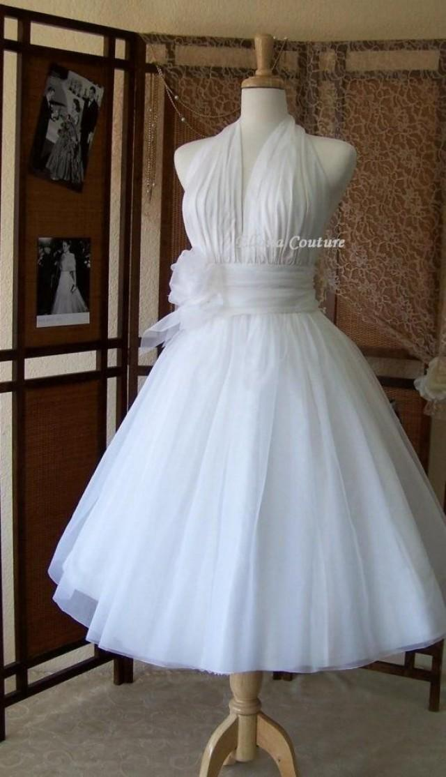Retro Inspired Tea Length Wedding Dress. Vintage Style ...
