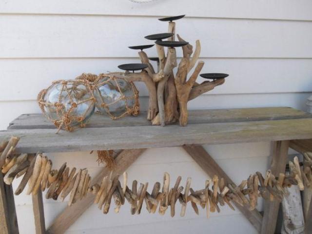 Nautical Driftwood Candelabra Driftwood Decor 7 Candle