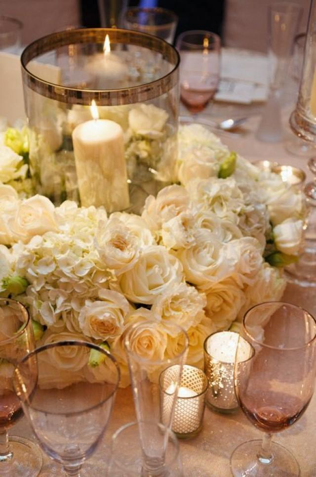White Carnations Hydrangeas And Roses Create An Exquisite Wedding