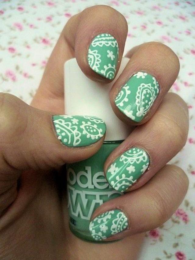 Nagel - Paisley Nails - Nettes Design-Ideen #2134337 - Weddbook