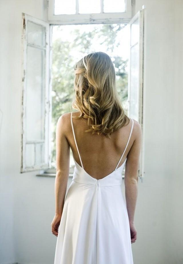 Romantische Weiße Chiffon-Strand-Hochzeitskleid ...