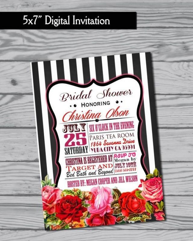 Bridal Shower Invitation / Birthday Invitation / Baby Shower ...