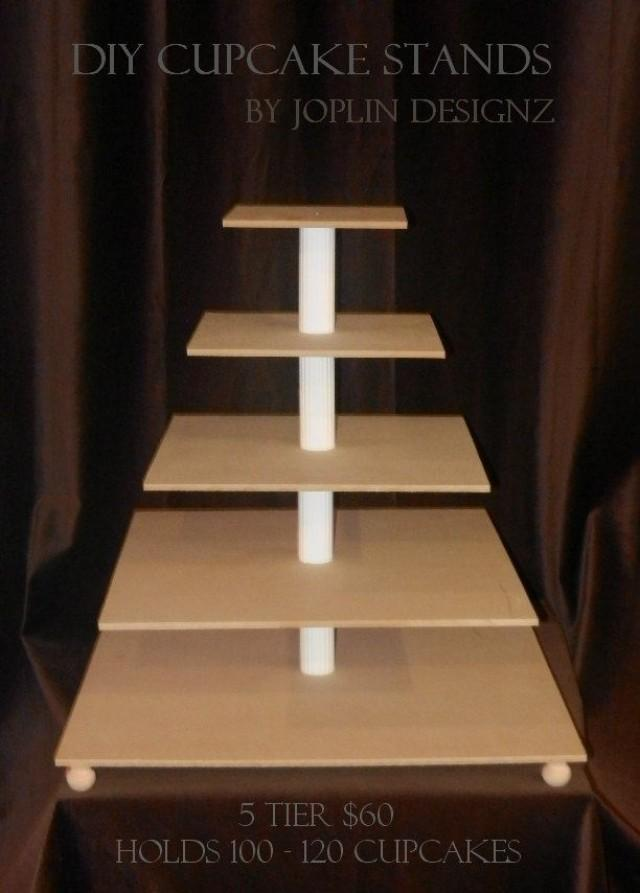 Diy Large 5 Tier Cupcake Stand Cake Stand Tower Custom