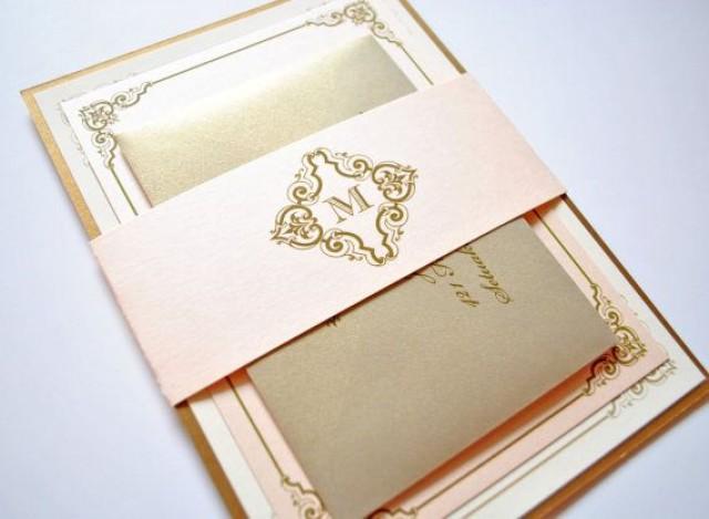 blush and gold wedding invitations blush gold champagne blush