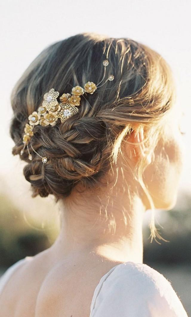 Wedding Hairstyles   Paige Floral Hair Comb 2143856 ...