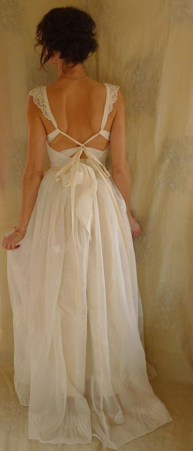 Reserved Fern Bustier Wedding Gown Whimsical Dress