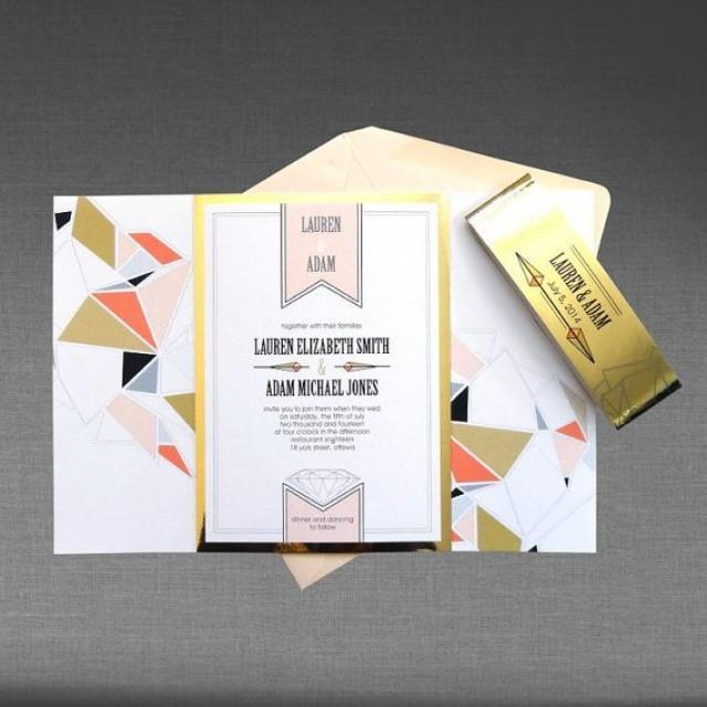 Sample1 wedding invitation modern geometric with metallic gold sample1 wedding invitation modern geometric with metallic gold and blush pink accents 2148453 weddbook stopboris Image collections