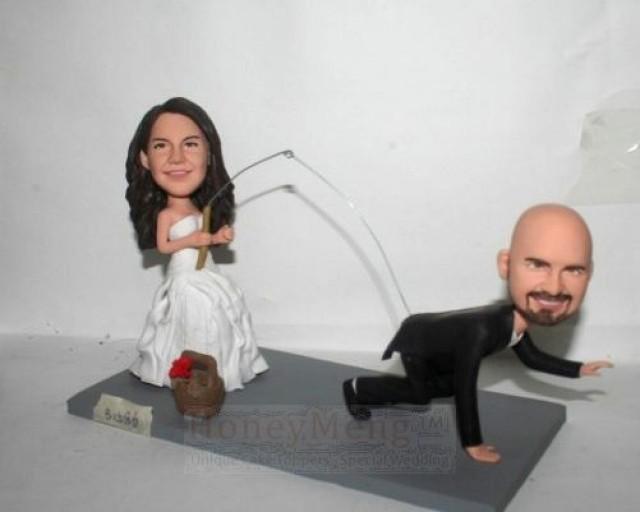 Funny Cake Topper Fishing Themed Wedding 2149401
