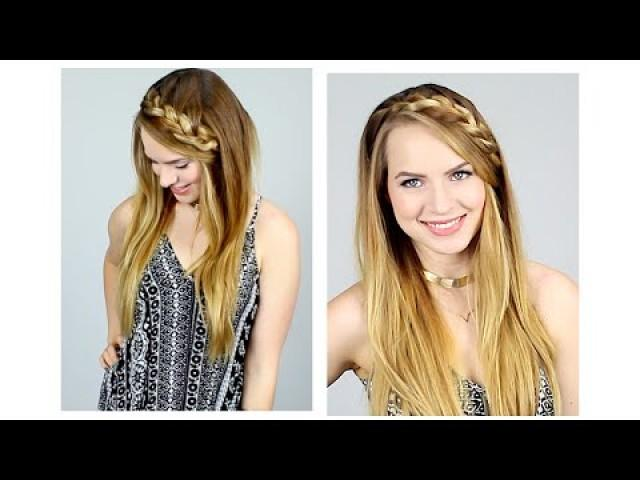 Quick Braided Half Up Hairstyle For Back To School 2150055 Weddbook