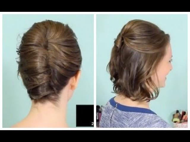 Französisch Twist Half Hochsteckfrisur Für Kurzes Haar