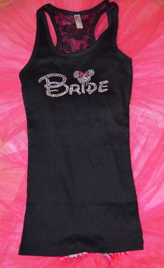 bride half lace tank top disney font bridesmaid bridal party tanks maid of honor bride gift bridal shower gift 2159664 weddbook