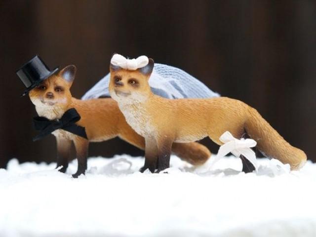 Fox S Wedding.Wedding Cake Topper Fox Woodland Bride And Groom Animal Lover