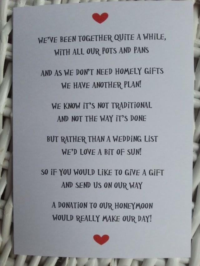 wedding poem - money as a gift