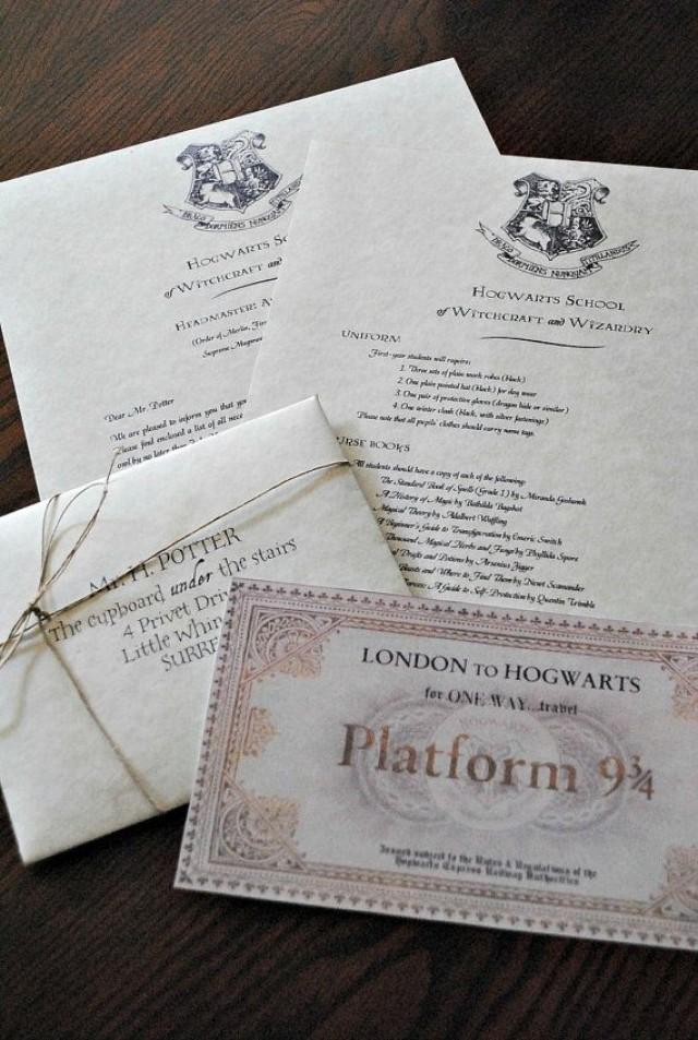 Personalized Harry Potter Hogwarts Acceptance Letter Includes Free