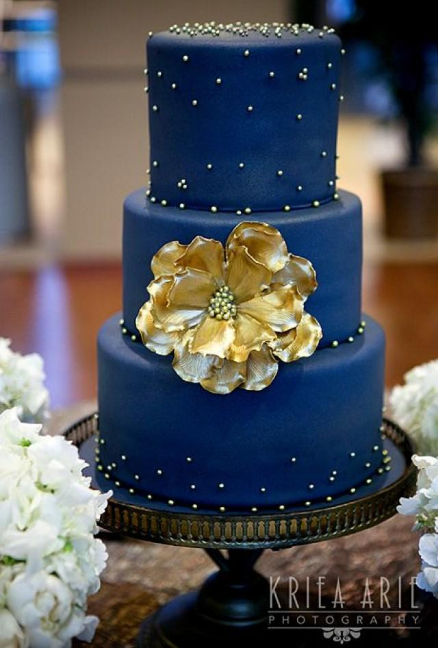 Two tier blue ombre wedding cake a watercolor wedding cake two tier blue ombre wedding cake a watercolor wedding cake inspired by the ocean 2166225 weddbook junglespirit Image collections