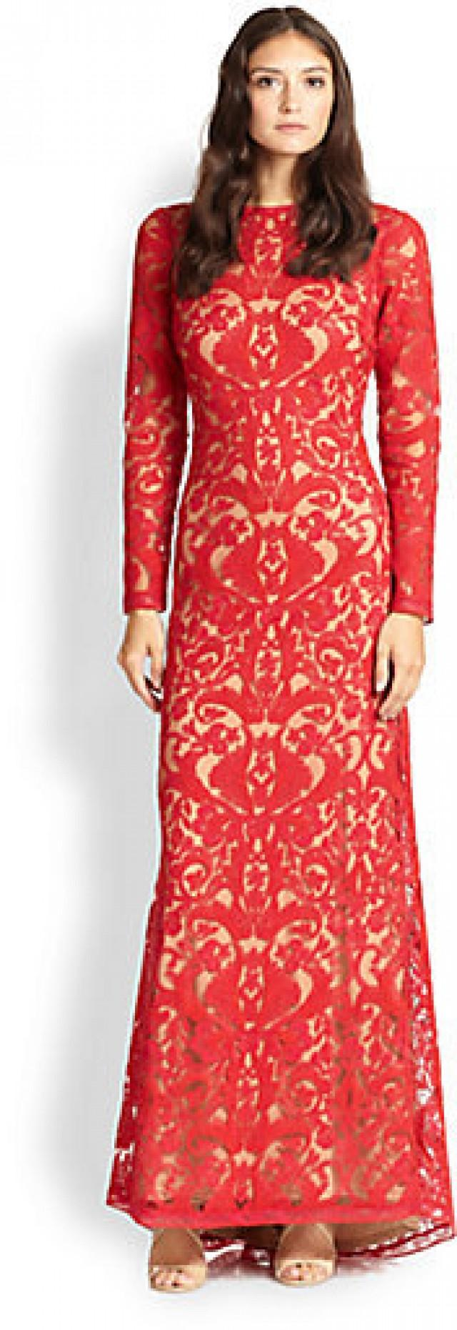 Lace Wedding - Tadashi Shoji Cord-Embroidered Lace Gown #2167398 ...