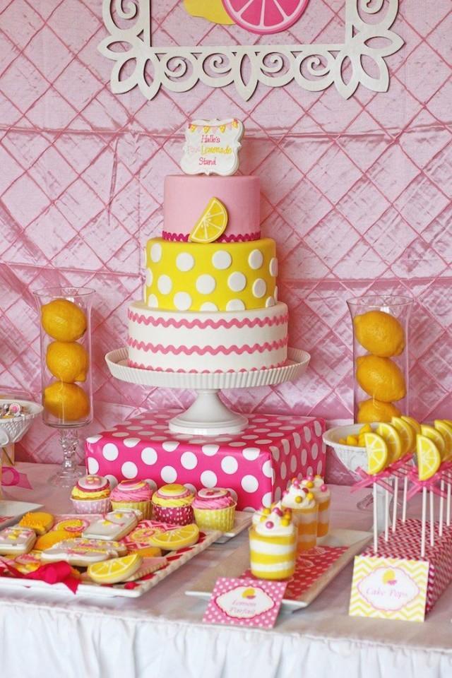 Pink Lemonade Themed Birthday Party Via Karas Ideas KarasPartyIdeas Printables Invitation Cake Decor Favors Cupcakes Recipes And More